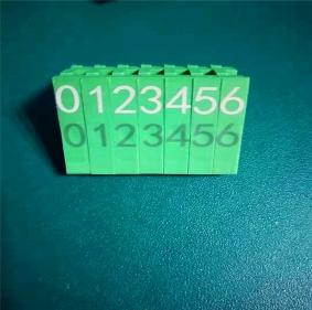 绿色雕白色激光粉